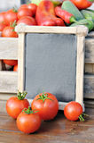 Tomatoes and price Stock Images