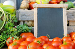 Tomatoes and price Royalty Free Stock Images