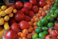 Tomatoes at a Provencal market Stock Images