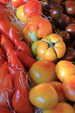 Tomatoes at a Provencal market Stock Image
