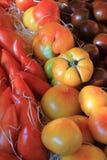 Tomatoes at a Provencal market Stock Image