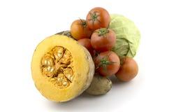 Tomatoes pumpkin tomato cabbage potato Royalty Free Stock Photo