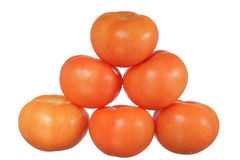 Tomatoes pyramid Stock Image