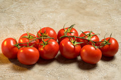 Tomatoes. Red ripe wet whole tomatoes Royalty Free Stock Images