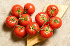 Tomatoes. Red ripe wet whole tomatoes Royalty Free Stock Image