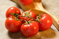 Tomatoes. Red ripe wet whole tomatoes Royalty Free Stock Photo