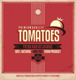 Tomatoes retro logo label Stock Photography