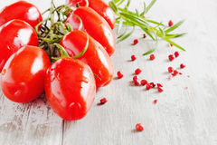 Tomatoes, rosemary and pea red hot pepper Royalty Free Stock Photos