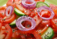 Tomatoes salad Stock Images