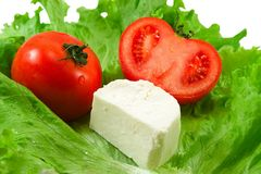 Tomatoes salad cheese Stock Images
