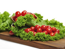 Tomatoes And Salad Leaves Stock Images