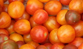 Tomatoes For Sale. Fresh Tomatoes on display at a Farmers Market Stock Photos