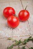 Tomatoes an salt Royalty Free Stock Photos