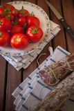 Tomatoes and sausage Royalty Free Stock Photo