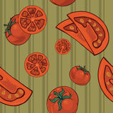 Tomatoes seamless 1. Tomatoes pattern for using in different spheres Stock Images