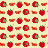 Tomatoes seamless vector background Royalty Free Stock Photos
