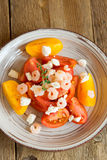 Tomatoes and shrimps salad Stock Image