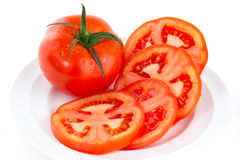 Tomatoes sliced Stock Photography