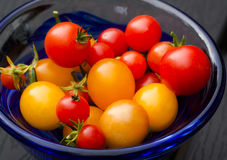Tomatoes. Some cherry tomatoes in a bowl Royalty Free Stock Photo