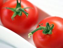 Tomatoes. Some red tomatoes in a bowl Stock Photo