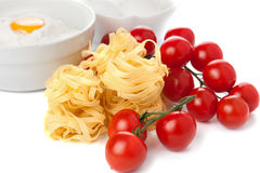 Tomatoes, spaghetti and pasta Royalty Free Stock Image