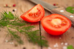 Tomatoes and spices Royalty Free Stock Photo