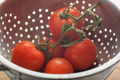 Tomatoes in strainer Royalty Free Stock Photo