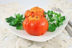 Tomatoes stuffed Stock Photo