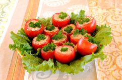 Tomatoes stuffed Royalty Free Stock Photography