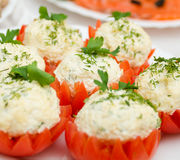 Tomatoes Stuffed with Feta Stock Image