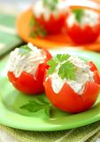 Tomatoes Stuffed with Feta Stock Photo