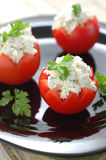 Tomatoes Stuffed with Feta Royalty Free Stock Photography