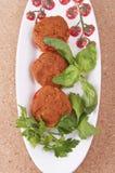 Tomatoes stuffed with tuna Stock Photo