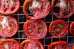 Tomatoes sun dried Stock Photos