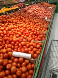Tomatoes in the supermarket Royalty Free Stock Photography