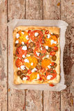 Tomatoes tart with cottage cheese Stock Image