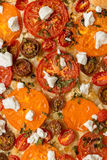 Tomatoes tart with cottage cheese Royalty Free Stock Photos