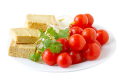 Tomatoes and Tofu Stock Photography