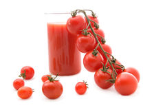 Tomatoes and tomato juice Royalty Free Stock Image