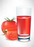 Tomatoes and tomato juice Stock Image