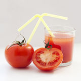 Tomatoes and tomato juice Stock Photography