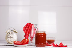Tomatoes and tomato juice Royalty Free Stock Photos