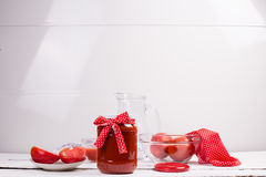Tomatoes and tomato juice Royalty Free Stock Photography