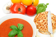 Tomatoes And Tomato Soup Stock Image