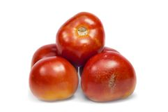Tomatoes on top Stock Photo