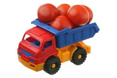 Tomatoes and the truck Royalty Free Stock Images
