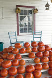 Tomatoes and two chairs on porch Royalty Free Stock Photo
