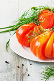 Tomatoes unusual shape Royalty Free Stock Image