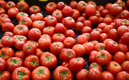 Tomatoes in vegetable market Royalty Free Stock Photography