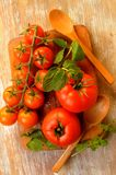 Tomatoes vegetables from farm healthy diet Stock Photography